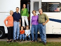 Family in Front of RV, RV Storage in West Jordan, UT